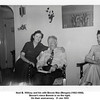 Noel B. Willsey and his wife Bessie Mae (Morgan) (1902-1968).<br /> Bessie's niece Bonnie is on the right.<br /> On their anniversary.  31 Jan 1955