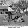 From left, Sue Ellen Reynolds, Hazel (Bishop) Reynolds, and Eugene N. Reynolds.<br /> Fixing the exercise bars used by Hazel's husband, Drew Reynolds.<br /> At his house in Tulsa, OK  3/14/1954