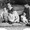 "In front, from left, Jerry, Gene, and Kathy Reynolds.  Their grandfather Ernest Willsey is on the right.<br /> Holding Jerry is William ""Bill"" Ben Willsey, Ernest's nephew.<br /> At Ernest's home, Tulsa, OK, Thanksgiving, 1946"