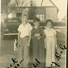 On left Jack Mongomery Patton with<br /> cousin Joe Edd (center) and niece <br /> Peggy Ann Dale (right).