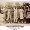 From left, Shirley McDonald Patton, Jane Patton Bishop,<br /> Florence Montgomery Patton, Stanley Paul Patton<br /> Phyllis Yates, Georgia Patton Dale, Peggy Dale<br /> at Florence's home on S. Phoenix<br /> Tulsa, OK