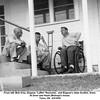 """From left, Bob Grey, Eugene """"Laffin"""" Reynolds,  and Eugene's older brother, Drew.<br /> At Drew and Hazel (Bishop)'s house.<br /> Tulsa, OK  4/4/1954"""