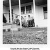 """From left, Bob Grey, Eugene """"Laffin"""" Reynolds,<br /> and Eugene's older brother, Drew.  At Drew and<br /> Hazel (Bishop)'s house.  Tulsa, OK  4/4/1954"""
