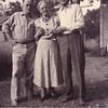 Ernest Willsey, left, his brother Glen, right, with their<br /> aunt Mary Ione (Sparks) Waddell.<br /> At Ernest and Bess' home.  Tulsa, OK