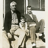 Gene Reynolds (b. 1940), with his grandfather<br /> Reuben H. Reynolds and dad Eugene N.<br /> At Reuben's home, Hominy, OK