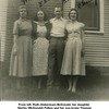 "From left, Ruth (Haberman) McDonald, her daughter <br /> Shirley (McDonald) Patton and her son-in-law Thomas<br /> Warren ""Bud"" Patton, and daughter Cherry McDonald <br /> at the Patton home <br /> Tulsa, OK"