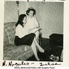 Shirley (McDonald) Patton with daughter Paula<br /> Kathleen at their home on N. Nogales<br /> Tulsa, OK