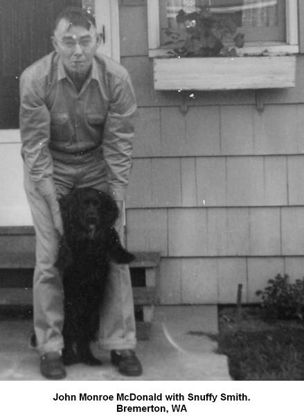 John Monroe McDonald with Snuffy Smith.<br /> Bremerton, WA