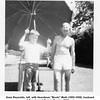 "Gene Reynolds, left, with Heardman ""Boots"" Muth (1895-1958), husband<br /> of Gene's aunt Bessie Maurice (Willsey).<br /> Baltimore, MD 1951"