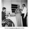 """From left, Drew Reynolds, his father, Reuben, and their<br /> friend Harold Carpenter.<br /> At the home of Drew and Hazel """"Bishop""""."""