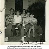 "On rightThomas Warren ""Bud"" Patton with wife Shirley <br /> (McDonald) Patton behind and son Jeffrey on lap.  Friends<br /> J.D. Meek and his daughter Janice on left.  At the Patton<br /> home on N. Elwood<br /> Tulsa, OK"