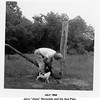 """Jerry """"Jiggs"""" Reynolds and his dog Pam.<br /> At """"the farm"""" between Skiatook and Hominy, OK.<br /> 1954"""