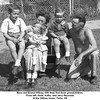 Bess and Ernest Willsey with their first three grandchildren.<br /> From left, Gene, Kathy, and Jerry Reynolds<br /> At the Willsey home, Tulsa, OK
