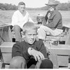 Gene, left, and his brother Jerry Reynolds fishing with their<br /> grandfather Ernest Willsey.