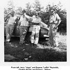 "From left, Jerry ""Jiggs"" and Eugene ""Laffin"" Reynolds,<br /> Chalkie Herald, and Ernest L. Willsey.<br /> Ernest is Eugene's father-in-law.<br /> At the Reynolds ""farm"" near Skiatook, OK  June, 1952"