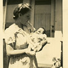 Ruth Mae (Haberman) McDonald and<br /> her grandson Jeffrey Warren Patton.<br /> Bremerton, WA 1945
