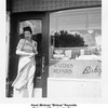 "Hazel (Bishop) ""Bishop"" Reynolds<br /> Bishop and Drew Jewelry Store.<br /> Tulsa, OK  July, 1950"