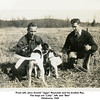 "From left, Jerry Arnold ""Jiggs"" Reynolds and his brother Ray.<br /> The dogs are ""Lady"", left, and ""Ben""<br /> Oklahoma, 1940"