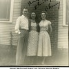 Shirley (McDonald) Patton and Thomas Warren Patton<br /> with her sister Cherry McDonald at the <br /> Patton Home on N.Phoenix<br /> Tulsa, OK