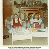 From left, Laura Kathleen Reynolds and Cindy Howard.<br /> Christmas at home of Drew and Bishop Reynolds.<br /> Tulsa, OK  1971