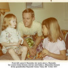 From left, Laura K. Reynolds, her uncle Jerry L. Reynolds,<br /> her cousin Cindy Howard, and her aunt Kathy L. (Reynolds) Howard.<br /> At her grandmother Reynolds' home, Tulsa, OK  13 Nov 1971