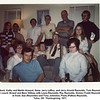 In back, Kathy and Martin Howard, Gene, Jerry LeRoy, and Jerry Arnold Reynolds, Tom Reynolds.<br /> On couch, Ernest and Bess Willsey with Laura Reynolds, Ray Reynolds, Donna (Todd) Reynolds.<br /> In front, Sue (Reynolds) and Tony Johnston, Paula (Patton) Reynolds.<br /> Tulsa, OK  Thanksgiving, 1971