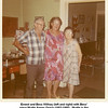 Ernest and Bess Willsey (left and right) with Bess'<br /> niece Myrtle Agnes Orrick (1902-1986).  Myrtle is the<br /> daughter of Bess' sister Tessie Lulu (Roberts) Miller.<br /> At the Willsey home, Tulsa, OK  1970