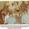 "Back row from left, Kathy (Reynolds) and Martin Howard, Gene and Jerry Reynolds, Jerry ""Jiggs"" Reynolds,<br /> and Tom Reynolds.  Seated on divan from left, Cindy Howard, Ernest Willsey, Laura Reynolds, Bess Willsey,<br /> Ray Reynolds,  and Donna Todd.  From left, Kathryn (Willsey) Reynolds, Sue (Reynolds)<br /> and Tony Johnston,  and Paula (Patton) Reynolds.<br /> At Kathryn's home, Tulsa OK, 13 Nov 1971"
