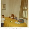 "Laura Reynolds, b.9/16/1968.<br /> In her bedroom with her ""little girl"" bed and Mrs. Beasley.<br /> Oklahoma City, OK  1/17/1972"