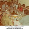 Clockwise from Tony (with tie) and Sue Johnston, Kathy and<br /> Martin Howard, Gene and Paula Reynolds, Ernest and Bess<br /> Willsey, Donna Todd, and Tom Reynolds.<br /> At Kathryn Reynolds' home, Tulsa, OK, Christmas 1971