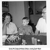 From left, Paula Kathleen Patton, cousin Paula Marie<br /> Kempe, at birthday party for their grandfather, John<br /> Monroe McDonald.  Tulsa, OK c. 1964