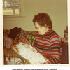 Bess Willsey and her new grandson, Doug Johnston.<br /> Tulsa, OK, Christmas 1971