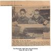Tom Reynolds, right, gets a bicycle license.<br /> Tulsa, OK  Jan 31, 1960