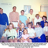 From left, Tom and Donna Reynolds, Martin and Kathy Howard with their daughter Cindy,<br /> Tony and Sue Johnston (with Doug to be), Jerry Reynolds, Gene and Paula Reynolds,<br /> Kathryn Reynolds with her granddaughter Laura Reynolds.<br /> At Kathryn's home, Tulsa, OK  1971