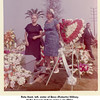 Reta Hunt, left, sister of Bess (Roberts) Willsey.<br /> At the funeral of their sister Lulu Miller.<br /> On right is Lulu's daughter Myrtle Orrick.  1964