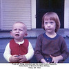 From left, Doug Johnston and his cousin Laura Reynolds.<br /> At the home of Ernest and Bess Willsey.<br /> Tulsa, OK  1972