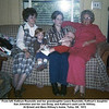 From left, Kathryn Reynolds and her grandaughter Laura Reynolds, Kathryn's daughter<br /> Sue Johnston and her son Doug, and Kathryn's aunt Lucile Willsey.<br /> At Ernest and Bess Willsey's home, Tulsa, OK  1972