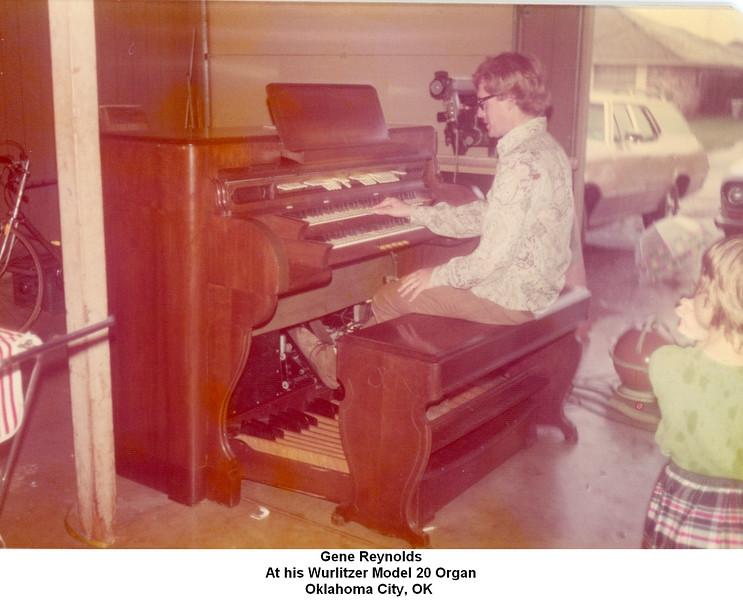 Gene Reynolds<br /> At his Wurlitzer Model 20 Organ<br /> Oklahoma City, OK