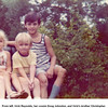 From left, Vicki Reynolds, her cousin Doug Johnston, and Vicki's brother Christopher.