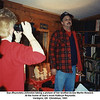 Sue (Reynolds) Johnston taking a picture of her brother-in-law Martin Howard.<br /> At the home of Sue's mom Kathryn Reynolds<br /> Verdigris, OK  Christmas, 1991