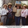 Sue (Reynolds) Johnston, left, her sister Kathy Howard, 2nd from right,<br /> and their sister-in-law Donna (Todd) Reynolds, right.<br /> At the Howards, Verdigris, OK  Easter 1990