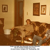 Center and right, Gene Reynolds and Chris Reynolds,<br /> the son of Gene's brother Jerry Leroy.<br /> At Jerry's house, Verdigris, OK  Thanksgiving, 1983