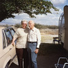"Beverly ""Bev"" (Burrow) Ellingson and her uncle<br /> William Clark ""Bill"" Willsey.<br /> At his trailer, Bowie, AZ  10/26/1991"