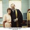 Kathryn Louise (Willsey) (Reynolds) HIggins with Pastor Jim Brown.<br /> At Kathryn's marriage to Bill Higgins.<br /> Tulsa, OK, 1985