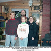 The family of Tom and Donna Reynolds.  From left, Kristopher, dad Tom, Valerie, and mom Donna.<br /> At the home of Tom's mom Kathryn Reynolds.<br /> Verdigris, OK  Christmas, 1991