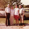 From left, Glen P. Willsey (1903-1988), his 2nd wife<br /> Eva Lee (1918-1997), Ruth Ann and Bill Willsey (Glen's son).<br /> At Martin and Kathy Howard's home, Verdigris, OK  7/18/1982