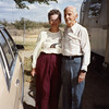 "Kathryn (Willsey) Reynolds and her uncle<br /> William Clark ""Bill"" Willsey.<br /> At his trailer, Bowie, AZ  10/26/1991"