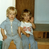 Cousins Jeff Johnston, left, and Anita Howard.<br /> Oct, 1985