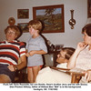 "From left, Gene Reynolds, his son Dustin, Gene's brother Jerry and his wife Donna.<br /> Glen Preston Willsey, father of William Ben ""Bill"" is in the background.<br /> Verdigris, OK  7/18/1982"