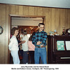 Jerry Reynolds and his friend Hazel.<br /> Martin and Kathy's house, Verdigris, OK  Thanksgiving, 1991